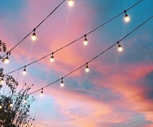 lights and sunset image