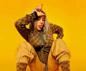 billie eilish, yellow, and aesthetic image