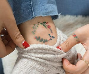 hand, red, and Tattoos image