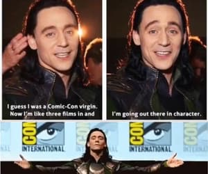 comic con, tom hiddleston, and loki laufeyson image