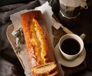 bread, cake, and tea image