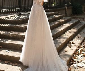 dress, sparkle, and wedding image