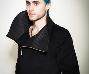 30 seconds to mars, blue hair, and jared leto image