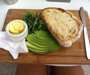 food, bread, and avocado image
