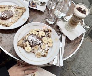 food, coffee, and crepes image