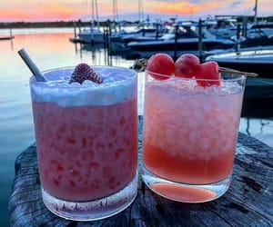 cocktail, delicious, and dessert image