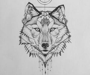 animal, tattoo, and wolf image