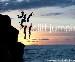cliff jumping image
