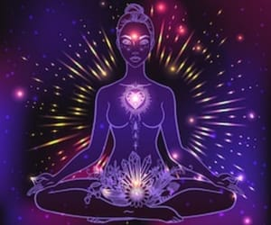 chakra, heart, and meditation image
