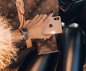 girl, iphone, and Louis Vuitton image