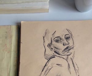 art, drawing, and beige image