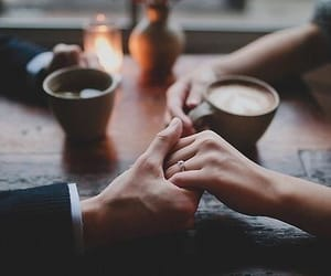 coffe, couple, and inspiration image