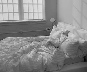 bedroom, minimalist, and white image