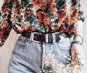 accessories, floral, and floral print image