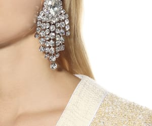 crystal, earrings, and alessandra rich image