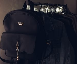backpack, clothing, and denim image