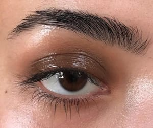 makeup, beauty, and brown image