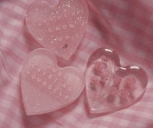 pink, heart, and aesthetic image