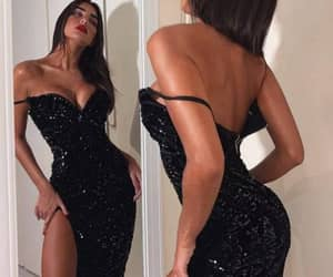 black dress, outfits, and dress image