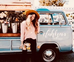 car, fashion, and flores image