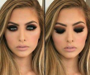 eyes make up, girls, and make up image
