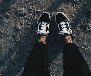 black, fashion, and vans image