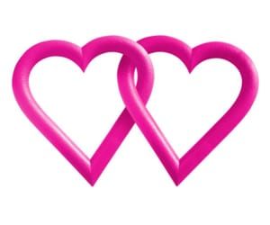 cyber, heart, and pink hearts image