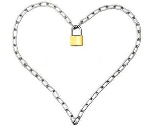 heart, chain, and lock image