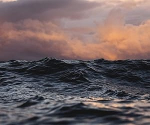 sea, clouds, and ocean image