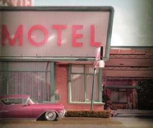 pink, motel, and vintage image