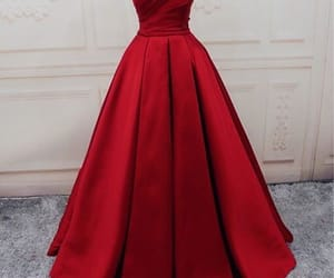 dress, red, and prom dress image