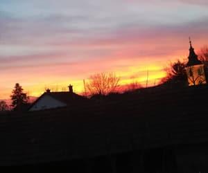 blue, sun, and sunset image