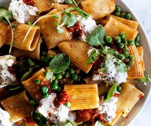 food, pasta, and peas image