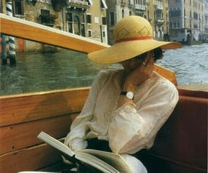 venice, book, and hat image
