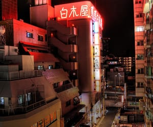 city, japan, and light image