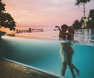 kiss, pool, and love image