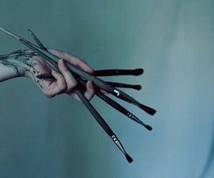art, hand, and Brushes image