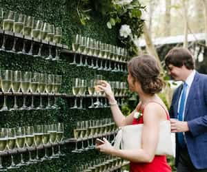 champagne, wedding day, and lové image