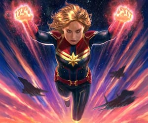 brie larson and captain marvel image