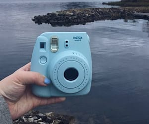 blue, camera, and pastel image