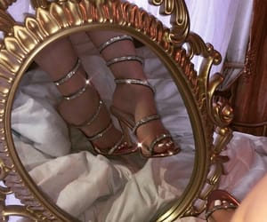 shoes, mirror, and heels image