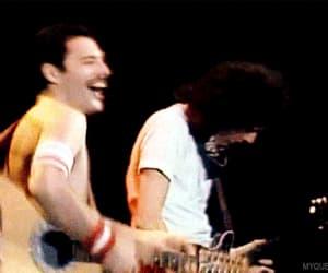 band, gif, and Freddie Mercury image