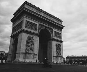aesthetic, arc de triomphe, and black and white image