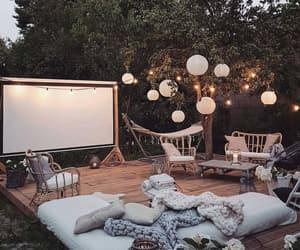 decor, lights, and pillow image
