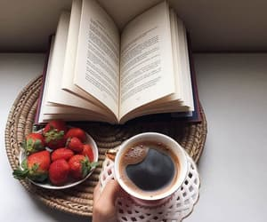 books, coffee, and lifestyle image