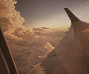 photography, plane, and sky image