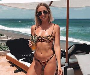 beach, swimsuit, and bikinis image