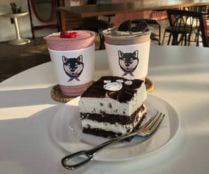 cup, dog, and husky image