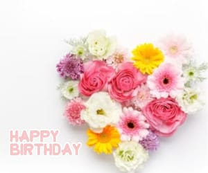 birthday, pastel, and flowers image