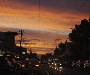 car, night, and city image